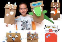 brinquedos / sacos de papel