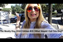 2016 Vlogs / I upload vlogs once a week on my YouTube channel, https://www.youtube.com/user/msgoldgirl every Sunday at 9 am Central time.  This vlogs are a compilation of what I get up to with my family throughout the week and can include recipes, mini-reviews of beauty products and lots of time with my dogs!