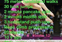 Gymnastic workouts and drills