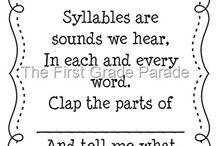 Syllables / by Marsha Ferrell