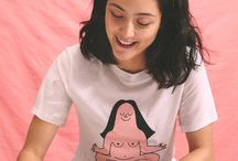 Monki x Camilla Engström / We teamed up with illustrator Camilla Engström to create some tees on self-love, cuz we think it's pretty important. The tees feature Camilla's character Husa in four scenarios that many can identify with. Acting like the boost we all need, Husa is a reminder that proudly takes space by doing want she wants, refusing to stress over societal norms and loving herself wholly.