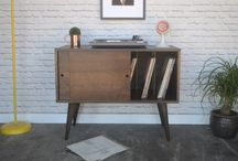 Our work - Record storage / Solid wood pieces with plenty of space for all your records and media players. We make handcrafted pieces influenced by Danish Modern style, but also heavily inspired by the vintage, minimalist aesthetic of downtown New York and Brooklyn. Made with love in NYC.