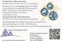 Adventsausstellung 2015 / Adventsausstellung bei Engelchens Blumenparadies! Wir präsentieren Ihnen liebevoll gestaltete Adventsfloristik.