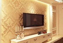 Decoração da parede tv