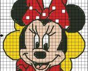 point de croix Mickey et Compagnie