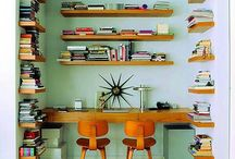 desks and library