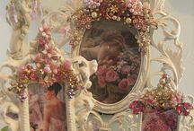 porta retratos con flores
