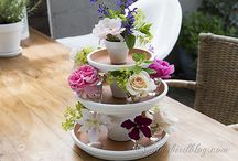 Kattaus, koristeet - Tableskape, decor / Ideas and beautiful tablescapes and centerpices