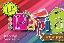 Le Papiart / Encuentra mas en www.facebook.com/lepapiart / by Rita Ortega Mazzini