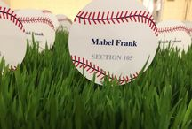 Baseball Themed Party / decor ideas for a Baseball/Spring Themed party