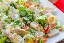 Saláták, hidegtálak