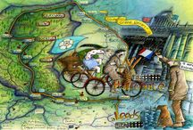 Tour de France Maps / Stage one and Stage Two of the Tour de Yorkshire Maps http://michellecampbellart.com / by Michelle Campbell Art