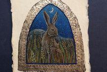 Peintre (Hannah Willow) / Animalier : lièvres...