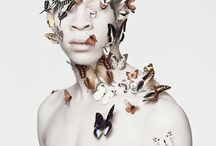 Albus / Art created by the photographer Justin Dingwall, Photography, South Africa, Africa, contemporary art, Justin Dingwall, Albinism, Albino, photo shoot, Sanele Xaba, Thando Hopa, snakes, butterflies, water, beauty indifference, paintings