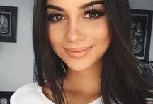 brunette's make up