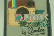 Little Moments by Clavelina / Diario creativo realizado con técnicas de scrapbooking