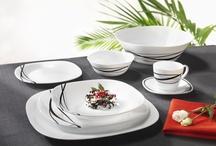 Feketén fehéren / Webáruházunk fekete-fehér étkészletei. Bővebben a www.teritettasztal.com webáruházban.