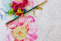 Painterly Days Coloring Book