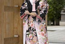 japán, kimonó, tájak