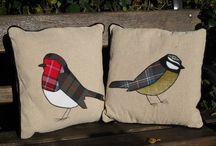 Appliqué cushions
