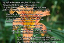 Wife Gift / My Wife - A beautiful poetry gift to a wife from a husband. It explores the wife and husband relationship, a friendship forever bonded by love. This gift poem is perfect for Mother's Day, wife birthday, Christmas, or just to let her know how much you love her. / by PoetryPrints.com