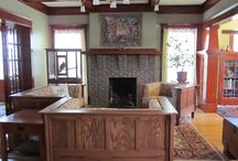 Craftsman Living Rooms / Nice craftsman living rooms; inglenooks, colonnades and other living room built-ins; and great fireplaces. / by Craftsman Junky