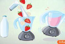 Как сделать молочные коктейли
