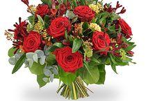 Букеты с красными розами