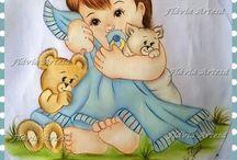 Šablóny detské - bábätká
