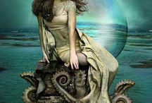 Mermaids and underwater world