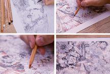 Making Of da Faber-Castell / Aqui você tem acesso aos nossos desenhos e aos materiais utilizados para produzí-los.