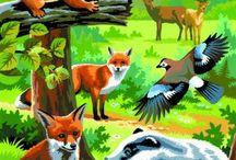 zvieratá z lesa