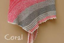 Knitted shawl, scarf