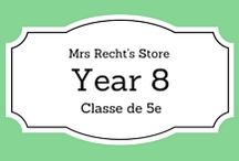 EFL Year 8 - Anglais 5e / EFL documents and lessons shared on my blog and my Tpt Store for year 8 students.