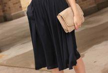 moda falda&blusa verano