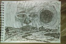 art work / pen brush. artwork. horror.