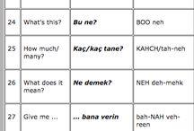 Ingilizce bilenler için Türkçe dersi.