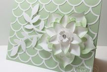 Striped Scallop Thinlits Die Stampin' Up Greeting Cards