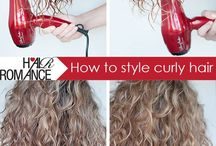 Curly Hair Routines / There are so many different ways to create defined, frizz free curls. Here are tons of different ways you can make sure your curls are on point every day!