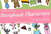 Storybook Characters (many in one) / PDF PNG JPG for more than one story in one file