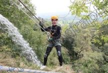 Abseil 2014 / The Children's Hospice South West Abseil at Canonteign Falls, September 2014.