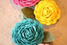 fabric flowers / by Kathryn O'Connell
