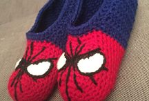 pantufla hombre araña