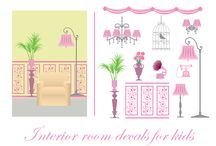 Kids wall decor / Decorate your kids home with different wall decals, stickers, paper.