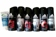Adidas Deodorants for Men Pack of 6 with Free 1 Shaving Gel