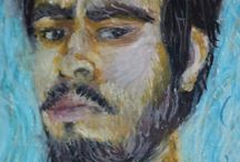 Giz Pastel oleoso (Oil pastel chalk) / Figuras inspiradas em Artistas da Vanguarda