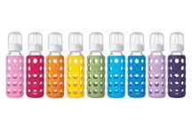 Krásná Lifefactory láhev / Zdravotně nezávadná láhev z borosilikátového skla s úžasným designem, vhodná kdykoli a kamkoli :-) Dají se koupit na www.pijemezeskla.cz