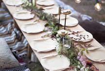 Tables and party decoration