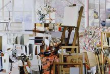 Dans la peau d'un peintre / Des tableaux illustrant le processus créatif d'un artiste