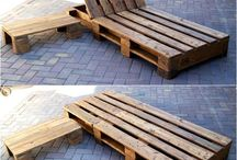 Recycled wood sun lounger